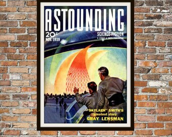 Sci Fi Print Poster, Astonishing Stories Vintage Magazine Print, Vintage Print, Dime Magazine, Magazine Science Fiction Art Item 0207