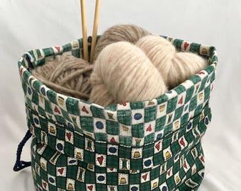 Knitting Project Bag Large Drawstring Bag Green Bag No Snag Drawstring Bag for Knitting Projects Crochet Project Bag Large Free Shipping