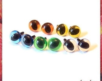 9mm Animals Amigurumi Plastic Safety Eyes 5 PAIRS - Translucent color (9C2)