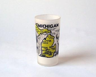 Vintage Michigan Souvenir Juice Glass