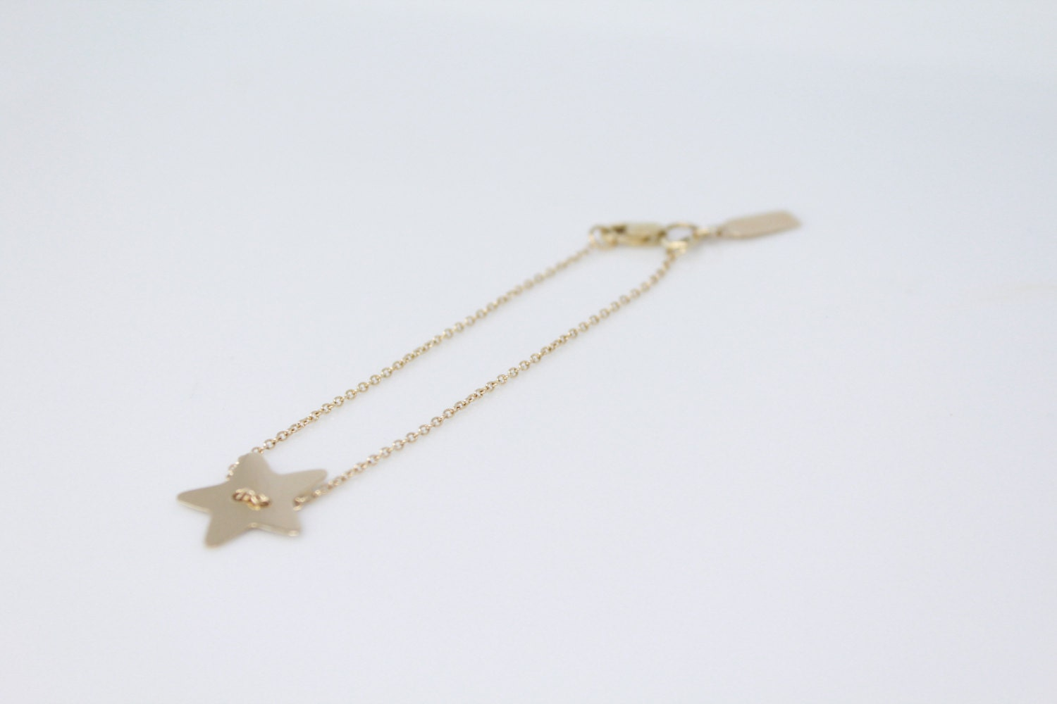 dainty pin coming soon monogram bracelet gold