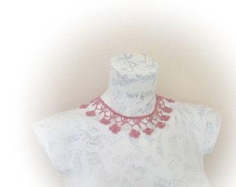 Lace choker,lace necklace,Summer Fashion lace necklace, floral necklace, romantic, elegant, wedding necklaceYour choice of color