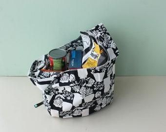 Reusable Grocery Bag, Earth Friendly Shopping Bag, Zero Waste, Organic Cotton Fabric, Market to Market