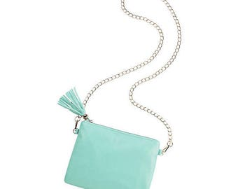 mint purse handbag seafoam crossbody beach luggage travel accessories Easter spring summer bag BeachHouseDreamsHome Outer Banks Wedding OBX