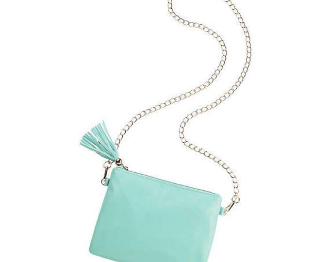 mint purse handbag seafoam crossbody beach luggage travel accessories Easter spring summer bag BeachHouseDreamsHome Outer Banks Wedding OBX