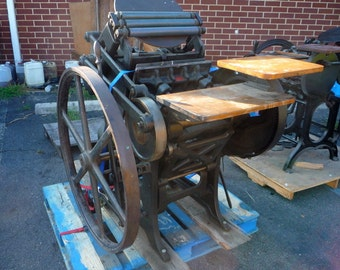 C&P 10X15 New Style Letterpress Chandler and Price Printing Press LETTERPRESS