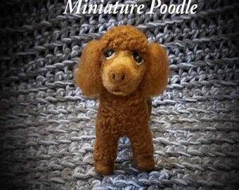 Miniature Poodle Needle Felting By Friskybizpet Designs