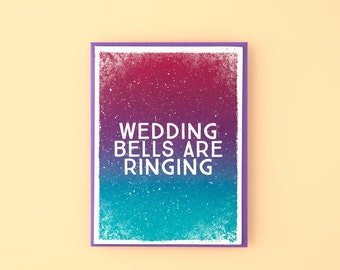 Wedding Bells Are Ringing Letterpress Greeting Card