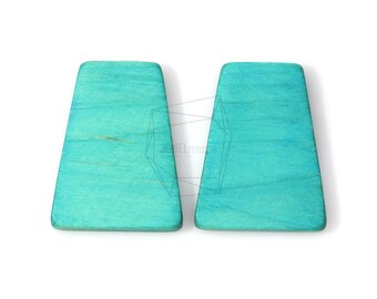 BSC-272-G/2pcs/Big Square Wooden Beads /33mm x 44mm/wooden Square beads