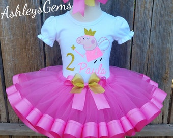 Peppa Pig Birthday Outfit, Peppa Pig Tutu, Peppa Pig Dress, Peppa Pig Tutu Set, Peppa Pig Tutu Dress, Peppa Pig Tutu Outfit, Peppa Pig Shirt