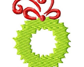 Christmas Wreath 2 Machine Embroidery Mini Design
