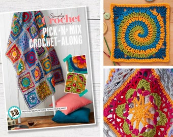 Crochet Blanket, Crochet Throw Pattern, Booklet, PDF, Instant Download, Crochet Along, Granny Square, Crochet Pattern, CAL, Lucy Croft