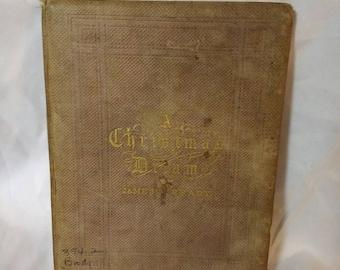 Antique Book - A Christmas Dream by James T. Brady (1860)