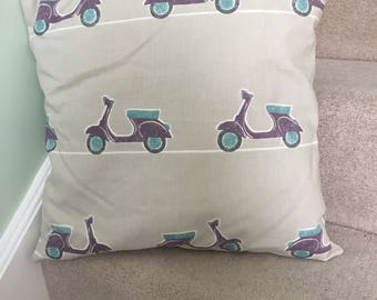Large Vespa scooter decorative cushion