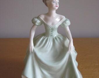 "Coalport Figurine Ladies of Fashion "" Henrietta "" 8 Inches Tall"