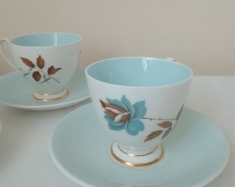 Queen Anne Bone China Coffee Set 'Giselle', Made in England