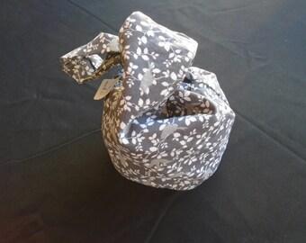 Winter Songbird Japanese Knot Bag