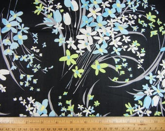 Pastel Floral on Black Background - Marcus Brothers