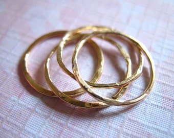 Gold Stack Rings, Knuckle Ring Midi Ring, Gold Stacking Rings / 1-100 rings, 14k Gold Fill Skinny Band Ring, minimal minimalist sr1-1