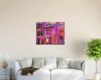 Magenta Art, Abstract Painting, Hot Pink Paintings, Pink Wall Art, Abstract Art, Canvas Painting, Acrylic Painting, White and Pink, Wall Art