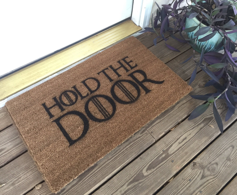 🔎zoom & Hold The Door Mat / Game of Thrones / Birthday Gift