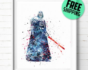 Star Wars Darth Vader print, Darth Vader poster, Star Wars poster, Darth Vader poster, Star Wars art, abstract, wall art, [31] home décor