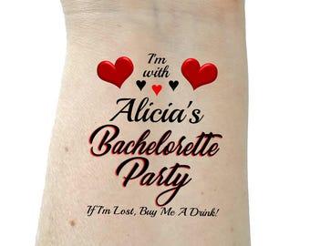 Bachelorette tattoo Bachelorette party tattoos temporary tattoos bridesmaid tattoos party tattoos
