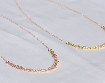 Gold chain necklace / Rose Gold Necklace / Gold Necklace /  Delicate Necklace / Christmas Gift for Her