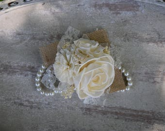 Wedding Corsage Mother of the Bride Corsage Mother of the Groom Corsage Ivory Corsage Sola Corsage Rustic Corsage Pearl Prom