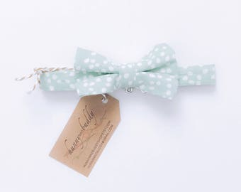 Baby Bow Tie / Boy Bow Tie / Toddler Bow Tie / Infant Bow Tie / Mint Bow Tie / Polka Dots / Baby Shower Gift / Ring Bearer Bow Tie