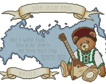 Russia Boy Adoption Cross Stitch Design