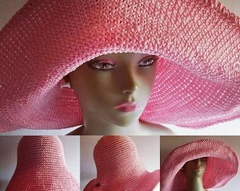 Crochet Sun Hat Extra Large Brim