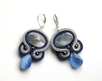 Earrings-soutache earrings-boho-soutache-ethnic-OOAK Moon
