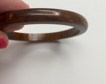 Bakelite bangles buy as lot, set or individually this listing is for 1 of 3 Thin uncarved Reddish brown bangles 39.00 ea ONLY