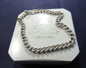"Vintage chunky sterling silver bracelet - 925 - sterling silver - 7"" - Full UK Hallmark - j"