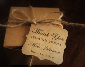 Bridal Shower Thank You Favor Tags- future mrs.