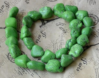 Charm green turquoise nugget stone beads,Turquoise Nugget Free Turquoise Gemstone Beads loose strands