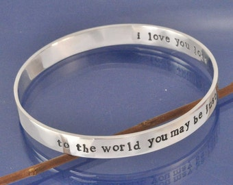 Personalised 9mm Sterling silver Bangle
