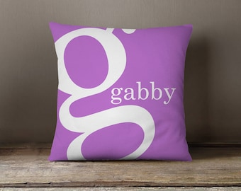Pillow Dorm Pillow Personalized Initial Pillow By the Letter Monogram Initial