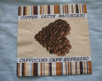 TOWEL DECORATION WITH COFFEE BEANS