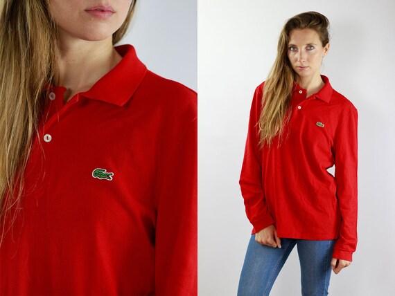 Lacoste Longsleeve Lacoste Polo Shirt Lacoste Sweatshirt Red Lacoste Long Sleeve Lacoste Sweatshirt Red Lacoste Sweat Shirt Lacoste 90s Polo