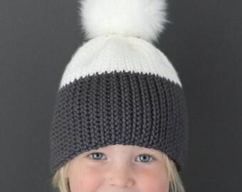 Crochet Pattern - Kingsley 'Knit Look' Crochet Hat by Lakeside Loops (includes Baby, Kids, & Adult sizes)