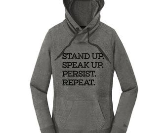 Resist Shirt Resist Sweatshirt for Women Resistance Shirt Resistance Sweatshirt Resistance Hoodie Stand Up Speak Up Persist Hoodies Women