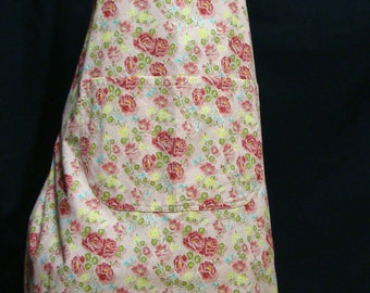 Medium Adult Apron  carnations  (#116)