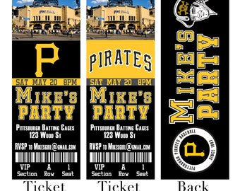 Pittsburgh Pirates Ticket Invitation