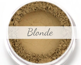 Blonde Eyebrow Powder Sample - Vegan Mineral Eye Brow Powder Blond Net Wt .4g Mineral Makeup Pigment