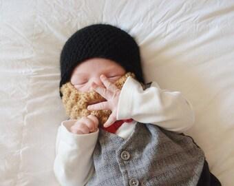 Crochet Hat with Beard, Crochet Beard Hat, Beard Hat, Baby Hat, Lumberjack Hat, Beard Beanie, Baby Boy Hat, Crochet Baby Hat