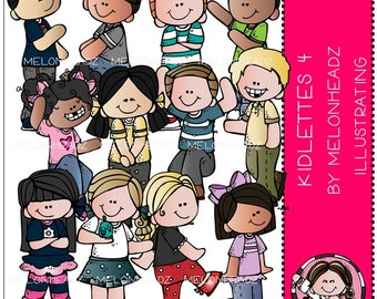 Kidlettes clip art Part 4  - Combo Pack