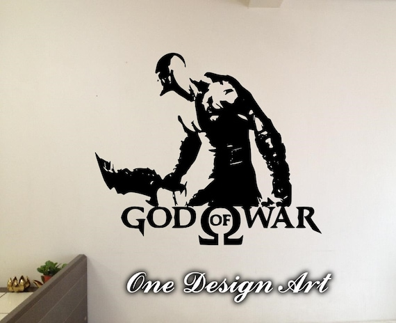God of war kratos wall decals anime mural arts sticker for