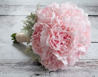 Blush Pink Peony Wedding Bouquet